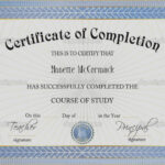 Shocking Certificate Of Completion Template Word Ideas Inside Certificate Of Completion Free Template Word