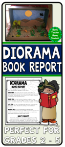Shoe Box Diorama Book Report: Diorama For A Fiction Or Non with Paper Bag Book Report Template