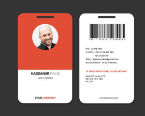 Showcase And Discover Creative Work On The World's Leading within Work Id Card Template