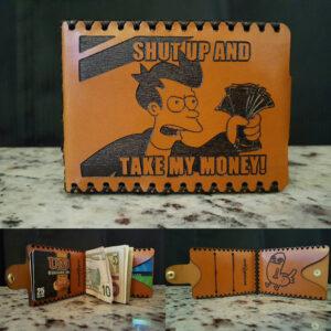 Shut Up And Take My Money Premium Leather Wallet throughout Shut Up And Take My Money Card Template