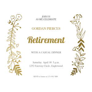 Sideside Gold – Free Retirement & Farewell Party in Farewell Certificate Template