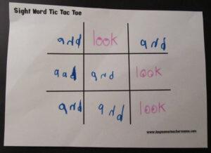 Sight Word Tic Tac Toe – Boy Mama Teacher Mama in Tic Tac Toe Template Word