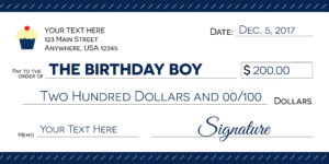Signage 101 – Giant Check Uses And Templates | Signs Blog regarding Large Blank Cheque Template