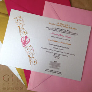 Sikh Faith Religious Invitations On Behance intended for Death Anniversary Cards Templates