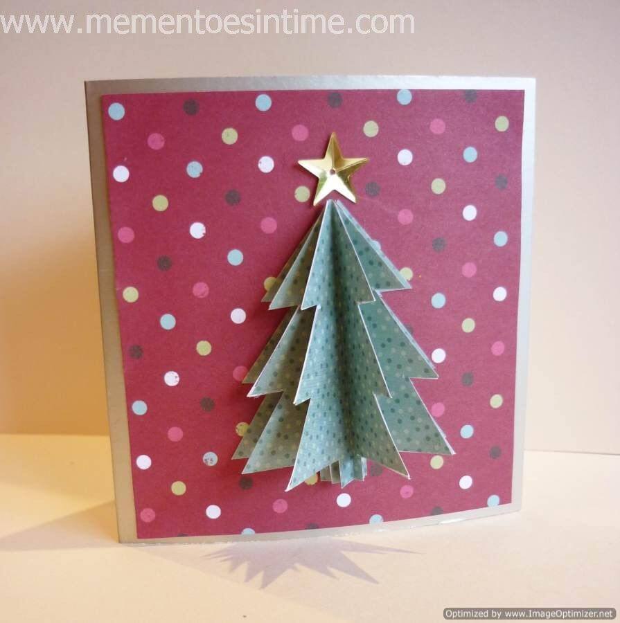 Simple 3D Christmas Card | Cut & Paste | Christmas Tree With Regard To 3D Christmas Tree Card Template