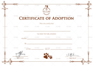 Simple Adoption Certificate Template Throughout Blank Adoption Certificate Template