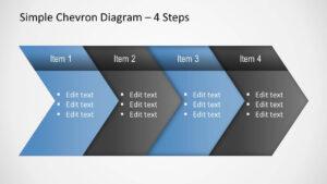 Simple Chevron Diagram For Powerpoint throughout Powerpoint Chevron Template