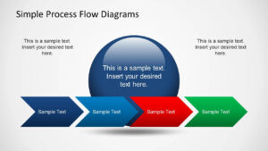 Simple Chevron Process Flow Diagram For Powerpoint with regard to Powerpoint Chevron Template