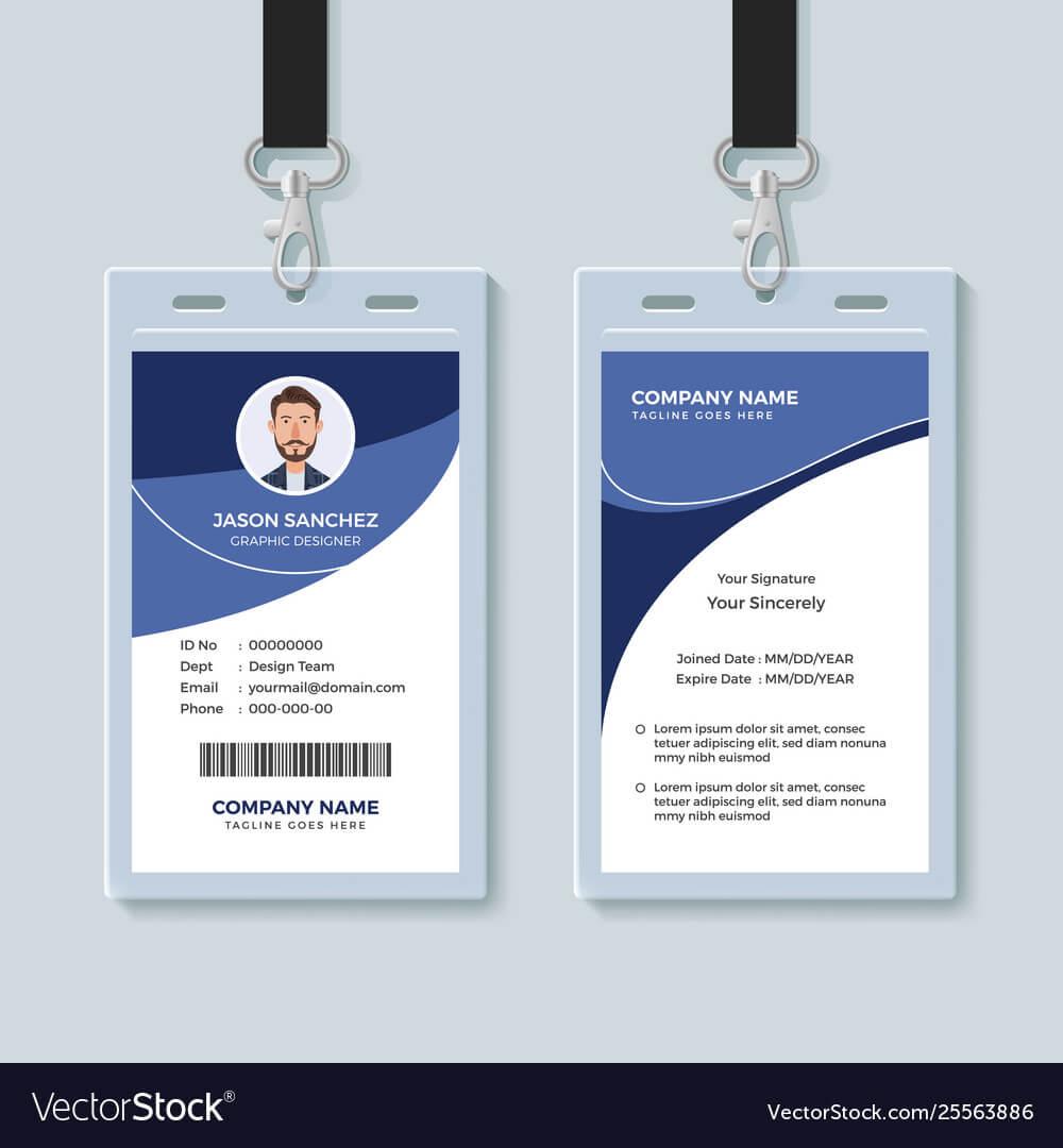 Simple Corporate Id Card Design Template Pertaining To Company Id Card Design Template