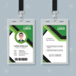 Simple Corporate Office Identity Card Design Template With Regard To Company Id Card Design Template