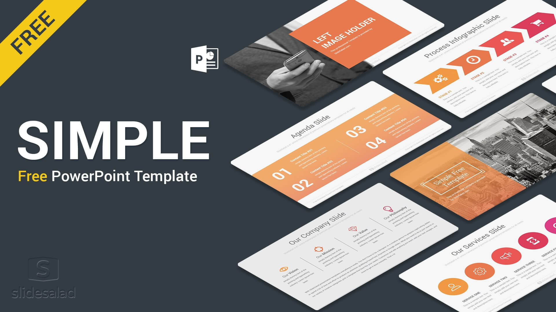 Simple Free Powerpoint Presentation Template - Free Download For Free Powerpoint Presentation Templates Downloads