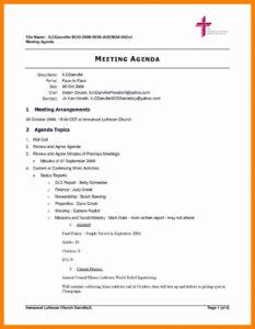 Simple Meeting Agenda Template Docmal Wordmat In Excel regarding Free Meeting Agenda Templates For Word