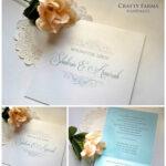 Simple Monogram Malay Handmade Wedding Invitation Card Within Sample Wedding Invitation Cards Templates