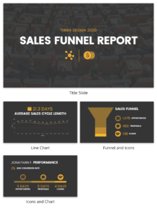 Simple Sales Funnel Report Template – Venngage inside Sales Funnel Report Template