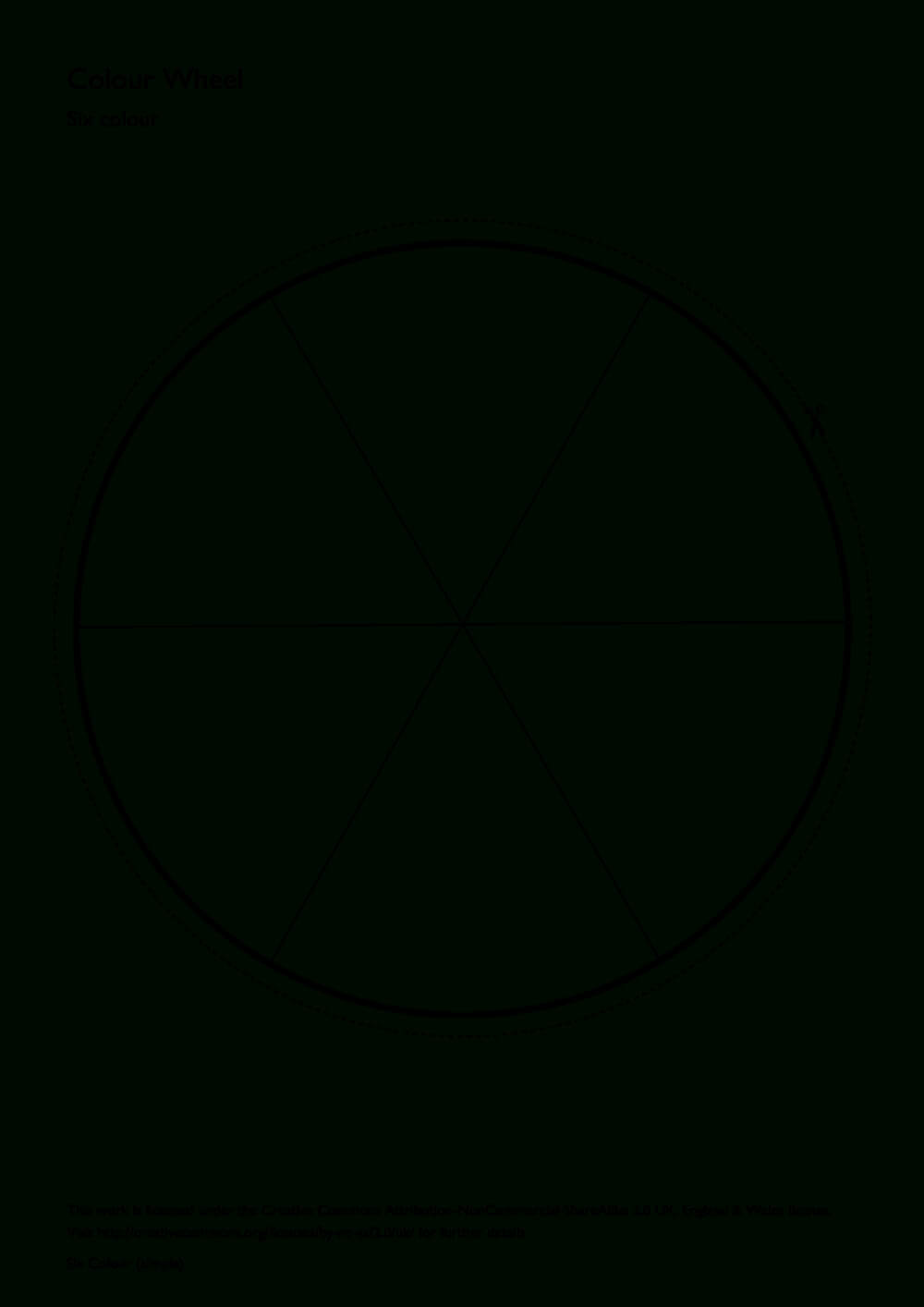Simple Six Colour Colour Wheel | Art Websites | Color Wheel For Blank Color Wheel Template