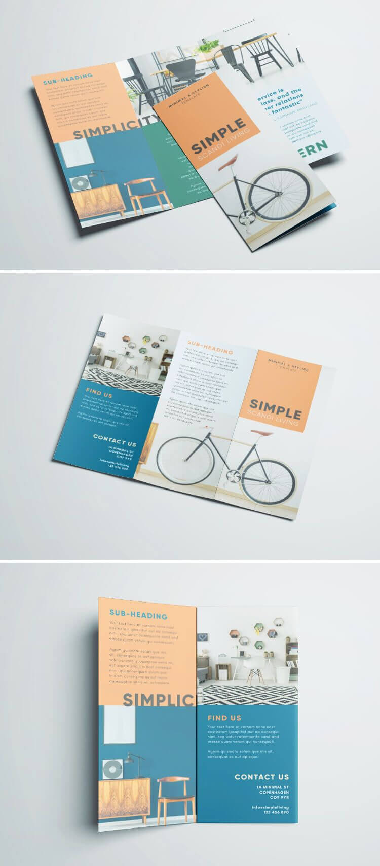 Simple Tri Fold Brochure   Brochure Design Idea   Brochure Inside Tri Fold Brochure Template Indesign Free Download