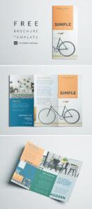 Simple Tri Fold Brochure | Free Indesign Template regarding E Brochure Design Templates