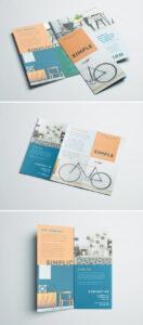 Simple Tri Fold Brochure | Free Indesign Template with regard to 3 Fold Brochure Template Free Download