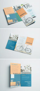 Simple Tri Fold Brochure | Free Indesign Template within Free Brochure Template Downloads