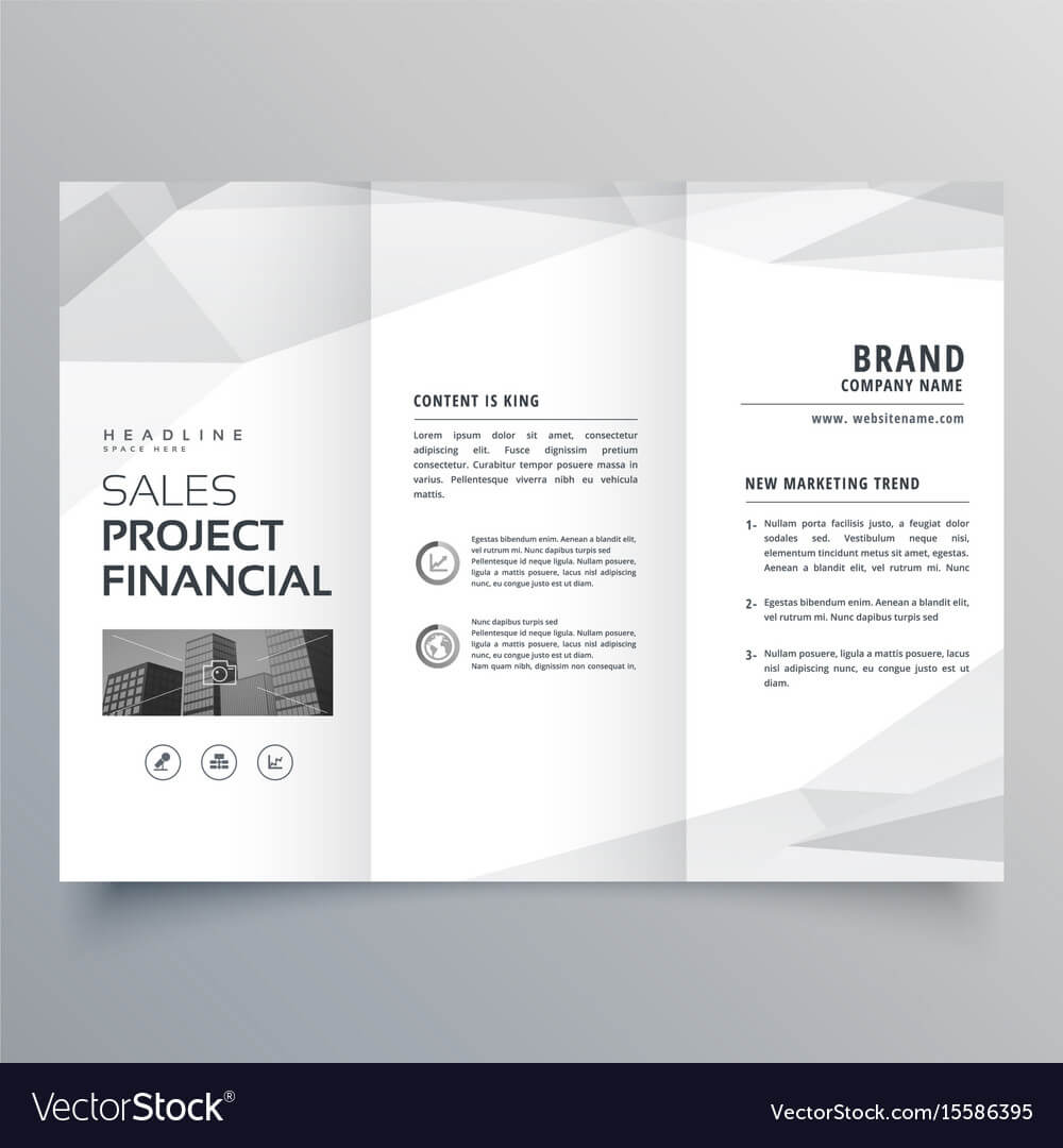 Simple Trifold Brochure Template Design With Intended For One Page Brochure Template