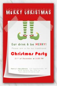 Singular Free Printable Christmas Invitation Templates For in Free Christmas Invitation Templates For Word