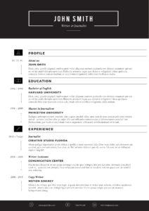 Sleek Resume Template – Trendy Resumes Pertaining To Microsoft Word Resumes Templates