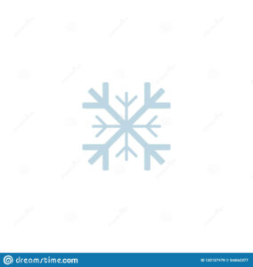 Snowflake Icon. Template Christmas Snowflake On Blank with regard to Blank Snowflake Template