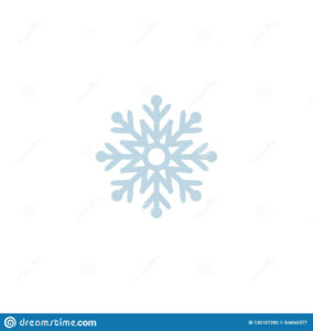 Snowflake Icon. Template Christmas Snowflake On Blank within Blank Snowflake Template