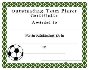 Soccer Award Certificates Template | Kiddo Shelter | Blank For Football Certificate Template