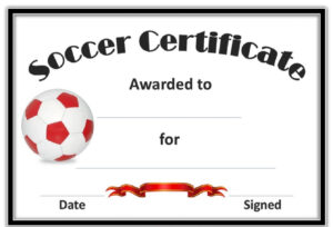 Soccer Award Certificates Template | Kiddo Shelter | Blank pertaining to Soccer Certificate Template Free