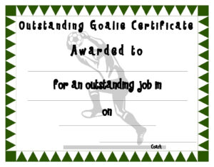 Soccer Certificate Templates | Activity Shelter regarding Soccer Certificate Template