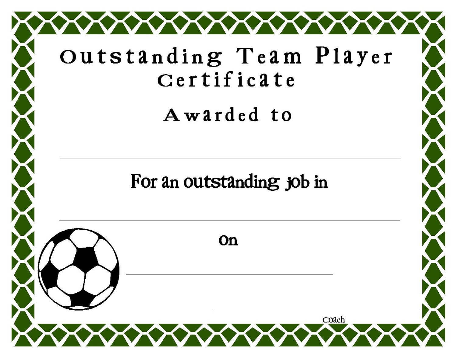 Soccer Certificate Templates Blank | K5 Worksheets | Sports With Soccer Award Certificate Templates Free