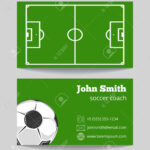 Soccer Green Field Business Card Template. Football Field On.. With Regard To Football Referee Game Card Template