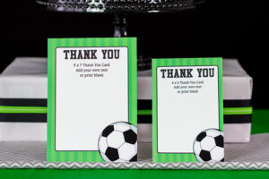 Soccer Party Decorations And Invitation Set in Soccer Thank You Card Template