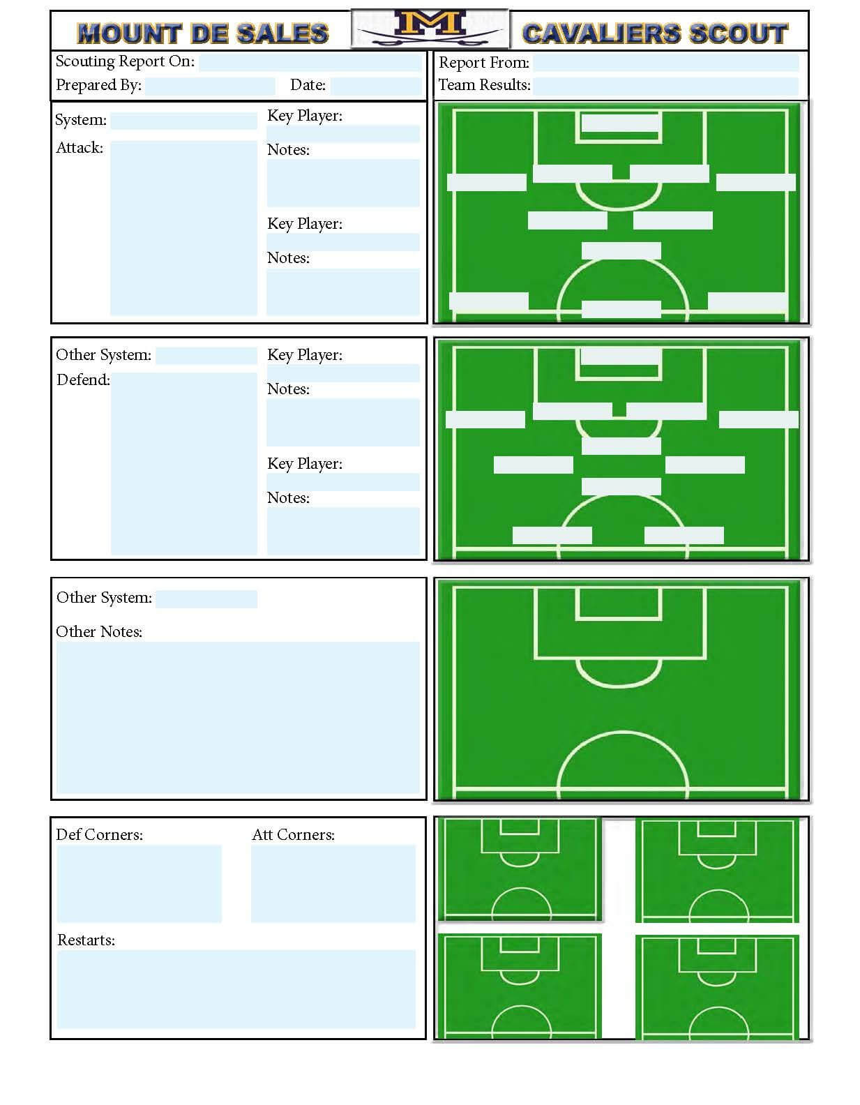 Soccer Scouting Template | Other Designs | Soccer Drills In Football Scouting Report Template