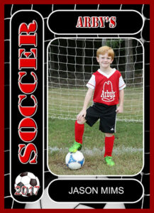 Soccer Sports Trader Card Template For Photoshop Balls And Net. 2019 Season. regarding Soccer Trading Card Template
