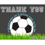 Soccer Thank You Card, Soccer Birthday, Soccer Ball Thank You, Soccer  Party, Sports Thank You, Sports Birthday, Thank You Card, Printable In Soccer Thank You Card Template