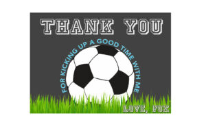 Soccer Thank You Card, Soccer Birthday, Soccer Ball Thank You, Soccer  Party, Sports Thank You, Sports Birthday, Thank You Card, Printable in Soccer Thank You Card Template