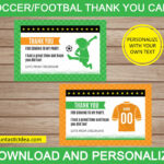 Soccer Thank You Cards, Soccer Thank You Notes, Soccer Thank You Card,  Soccer Birthday Party | Instant Download Pdf Printable With Soccer Thank You Card Template