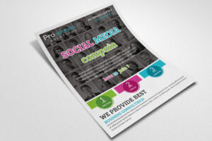 Social Media Flyer Templatedesignhub   Thehungryjpeg inside Social Media Brochure Template