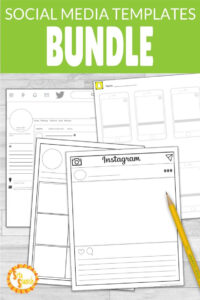 Social Media Template Bundle Instagram, Snapchat, & Twitter with regard to Book Report Template In Spanish