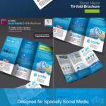 Social Media Tri Fold Brochure Template Indd   Bi Fold Intended For Social Media Brochure Template