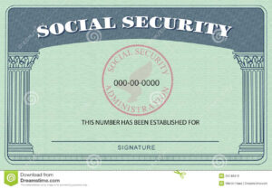 Social Security Card 650*452 – Social Security Card 24148416 throughout Blank Social Security Card Template