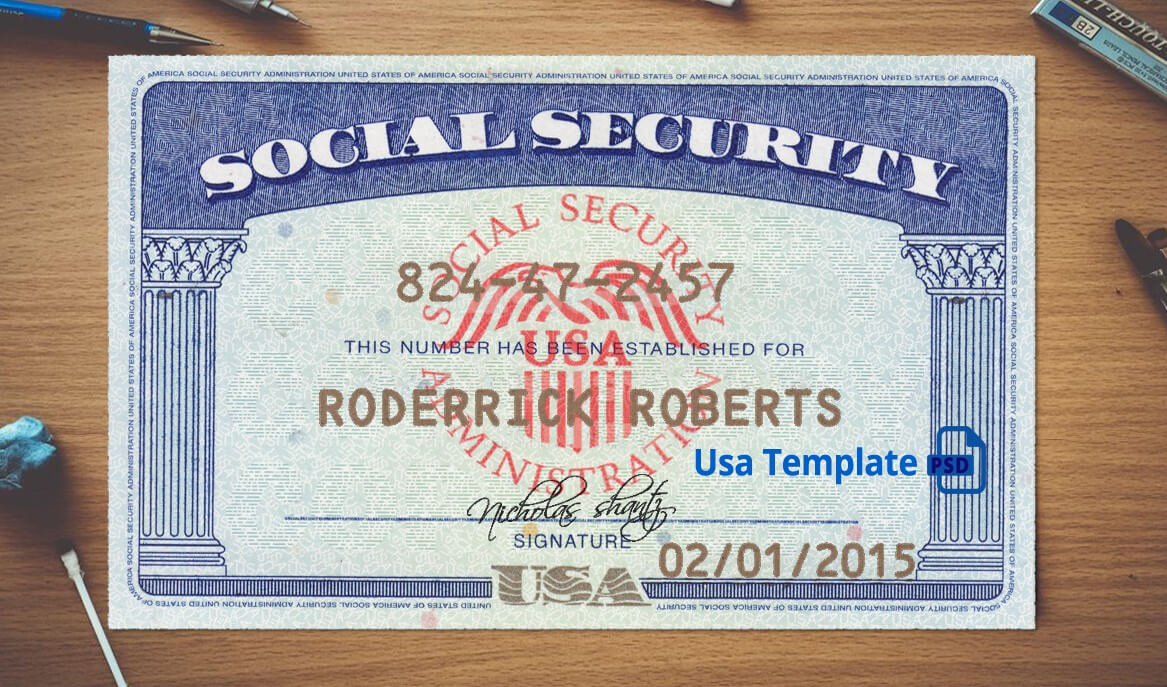 Social Security Card Template Download | Nurul Amal In Social Security Card Template Psd