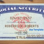 Social Security Card Template Download   Nurul Amal Inside Social Security Card Template Download