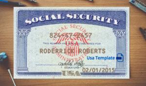 Social Security Card Template Download   Nurul Amal inside Ssn Card Template