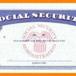 Social Security Card Template Pdf