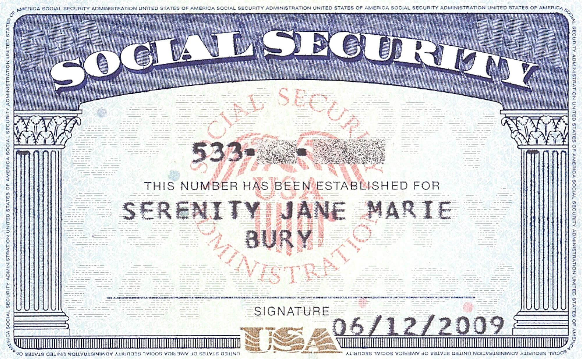 Social+Security+Card+Blank | General | Social Security Throughout Blank Social Security Card Template