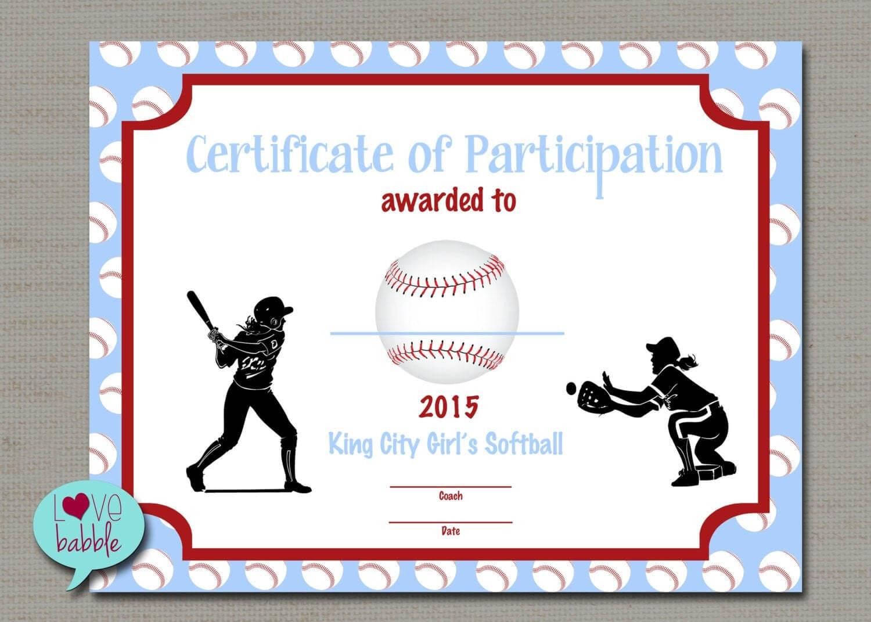Softball Certificate Templates Free - 10+ Professional Inside Softball Certificate Templates Free