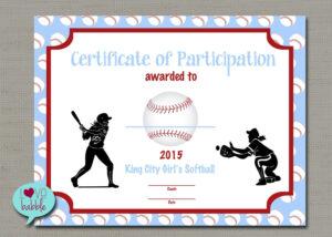 Softball Certificate Templates Free - 10+ Professional throughout Softball Certificate Templates